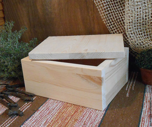 Ящик деревянный. Короб из сосны. Заготовка для декупажа и росписи.