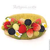 Украшения ручной работы. Ярмарка Мастеров - ручная работа Фисташковый  браслет с вязаными ягодами. Handmade.