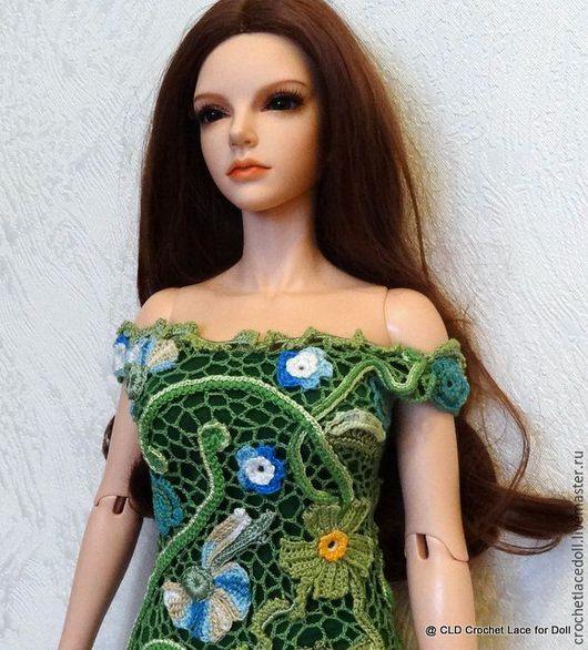 Одежда для кукол ручной работы. Ярмарка Мастеров - ручная работа. Купить Dress. Handmade. Crochet, doll, вязаное платье крючком