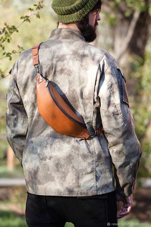 Bag men's shoulder leather - Monolit-Bizon, Men\'s bag, Volgograd,  Фото №1