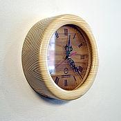 Для дома и интерьера handmade. Livemaster - original item Elegant wooden watch ekostil, unusual wall clock 190mm. Handmade.