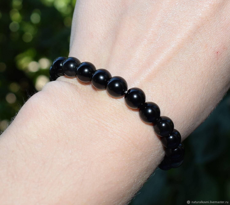 Bracelet natural rainbow obsidian, Bead bracelet, Moscow,  Фото №1