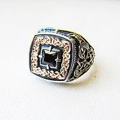 Украшения handmade. Livemaster - original item A silver ring with black agate. Handmade.