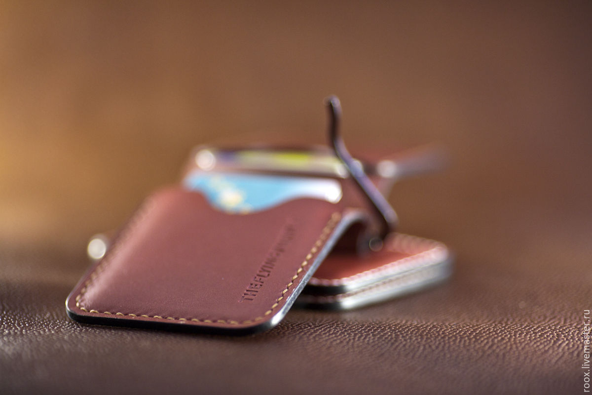Buy wallet money clip horween leather on livemaster online shop theflyingturtle wallets business card holders handmade wallet money clip horween leather theflyingturtle magicingreecefo Choice Image