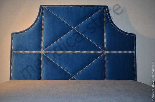 Мебель ручной работы. Ярмарка Мастеров - ручная работа. Купить Кровать Milana. Handmade. Тёмно-синий, изголовье кровати