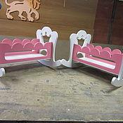 Мягкие игрушки ручной работы. Ярмарка Мастеров - ручная работа Кроватка для кукол. Handmade.