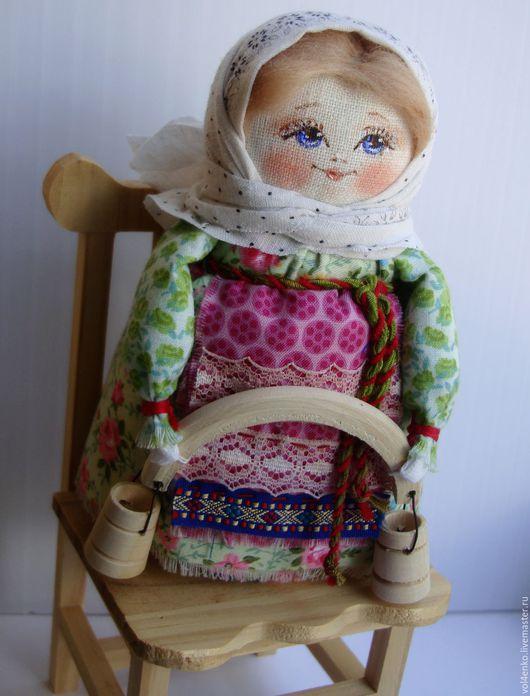 Народные куклы ручной работы. Ярмарка Мастеров - ручная работа. Купить Кукла в русском стиле Анютка.. Handmade. Комбинированный