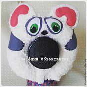 Куклы и игрушки ручной работы. Ярмарка Мастеров - ручная работа Игрушка на объектив мишка плюшевый. Handmade.