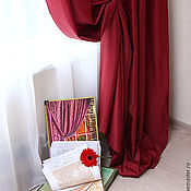 Для дома и интерьера handmade. Livemaster - original item Curtains Burgundy from satena. Handmade.