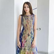 Одежда ручной работы. Ярмарка Мастеров - ручная работа Летнее валяное платье Летний вечер. Handmade.