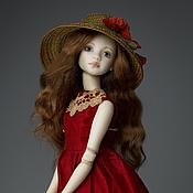 """Шарнирная кукла ручной работы. Ярмарка Мастеров - ручная работа Шарнирная фарфоровая кукла """"Девочка в красном"""". Handmade."""