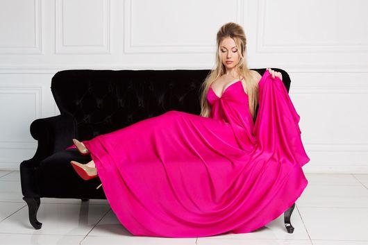 Платья ручной работы. Ярмарка Мастеров - ручная работа. Купить Платье в пол. Handmade. Платье в пол, летний сарафан, фуксия