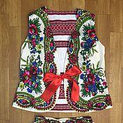 Одежда ручной работы. Ярмарка Мастеров - ручная работа Двухсторонний жилет. Handmade.