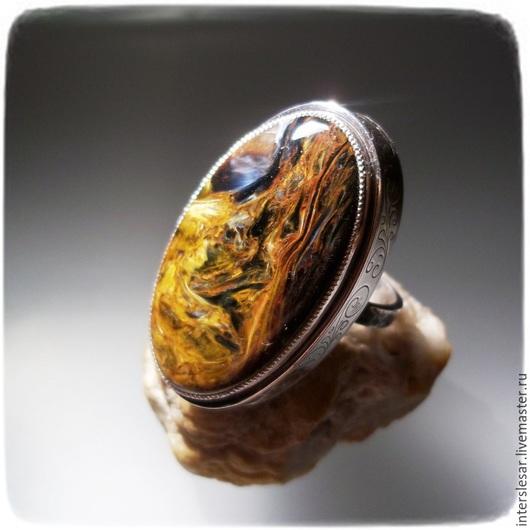 """Кольца ручной работы. Ярмарка Мастеров - ручная работа. Купить Кольцо с петерситом """"На гребне волны"""". Handmade. Разноцветный, самоцветы"""
