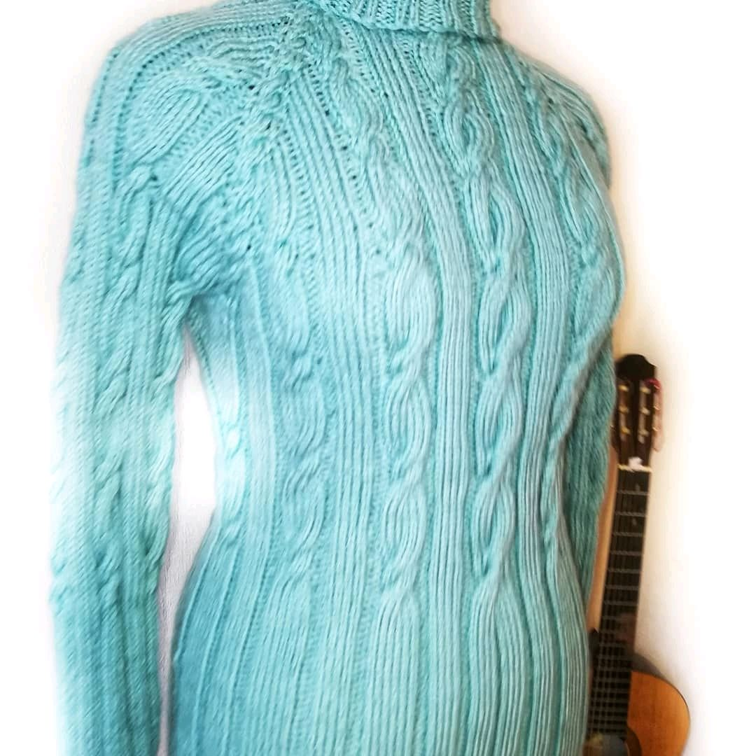 Mint-silver turtleneck, Turtleneck Sweaters, St. Petersburg,  Фото №1