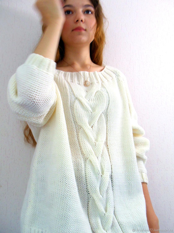 Свитер женский вязаный - свитера женские вязаные спицами ...