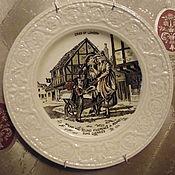 """Винтаж ручной работы. Ярмарка Мастеров - ручная работа Антикварная тарелка """"Жизнь Лондона""""Англия. Handmade."""