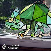 Для дома и интерьера ручной работы. Ярмарка Мастеров - ручная работа Стеклянный Хамелеон. Handmade.