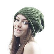 Аксессуары handmade. Livemaster - original item Olive Green Rope Hat 5in1, Hand Knit Cloche, Women Beanie. Handmade.