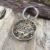 Зоотовары handmade. Livemaster - original item Dog medallion with Boho style engraving. Handmade.
