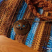 Одежда ручной работы. Ярмарка Мастеров - ручная работа Вязаная кофта Небо турции (крючок+спицы). Handmade.