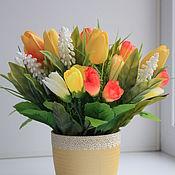 Цветы и флористика ручной работы. Ярмарка Мастеров - ручная работа Яркая весна. Handmade.