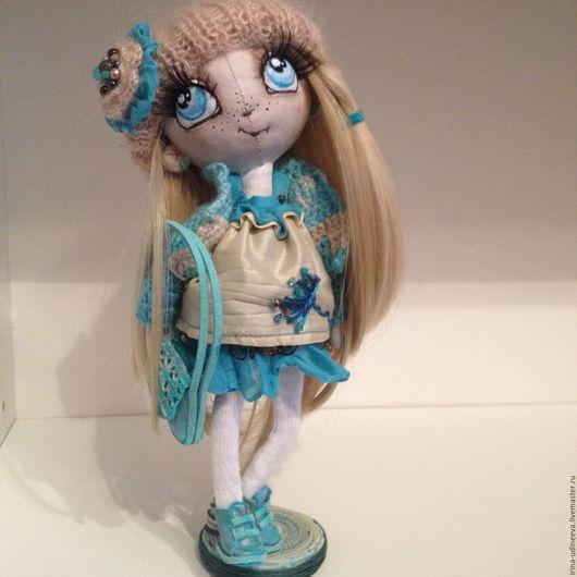 Коллекционные куклы ручной работы. Ярмарка Мастеров - ручная работа. Купить Текстильная кукла-Няшечка малышка.... Handmade. Бирюзовый, подарок