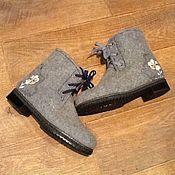 Обувь ручной работы handmade. Livemaster - original item Felted boots with embroidery
