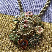 Винтаж handmade. Livemaster - original item Brooch-pendant