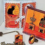 """Украшения ручной работы. Ярмарка Мастеров - ручная работа Подарочный набор """"Le Chat noir"""". Handmade."""