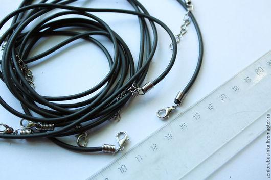 """Для украшений ручной работы. Ярмарка Мастеров - ручная работа. Купить Шнур силиконовый для кулонов """"Черный"""". Handmade. Черный, шнур"""