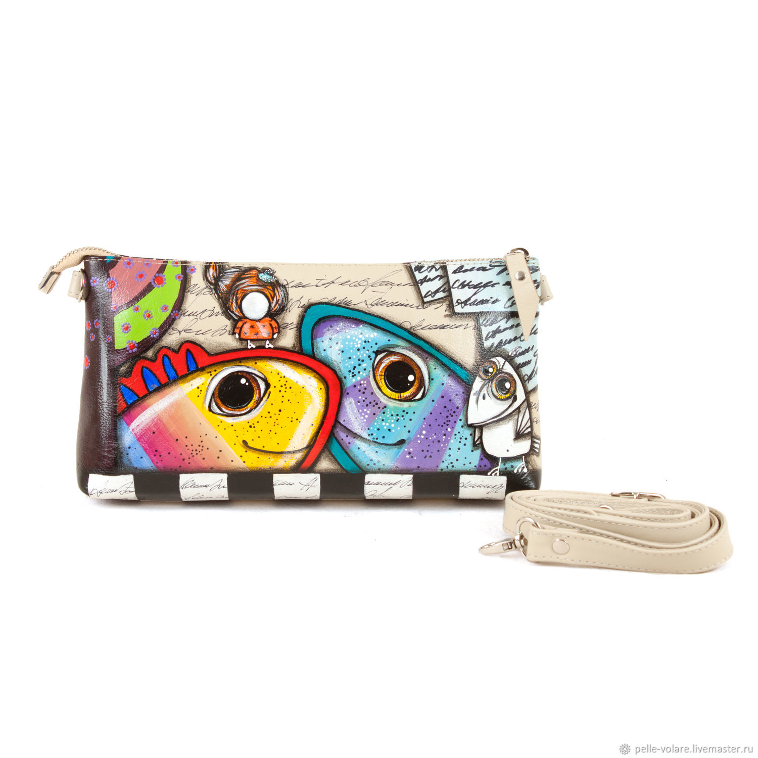 Clutch 'Ethno fish ', Clutches, St. Petersburg,  Фото №1