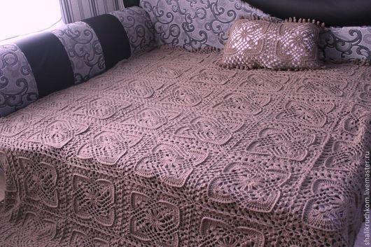 Текстиль, ковры ручной работы. Ярмарка Мастеров - ручная работа. Купить Вязаный шерстяной плед Канадский. Handmade. Плед вязаный