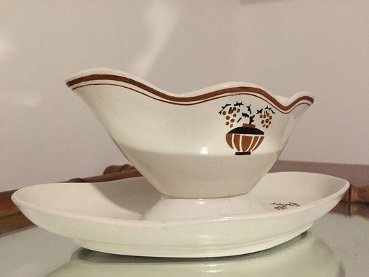 Винтажная посуда. Ярмарка Мастеров - ручная работа. Купить 1932. Соусник арт-деко SAINT AMANDE. Handmade. Белый