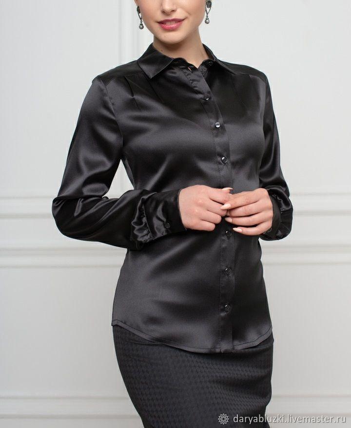 c59e3465a9f Блузки ручной работы. Ярмарка Мастеров - ручная работа. Купить Черная  шелковая блузка.