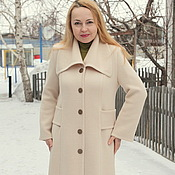 "Coats handmade. Livemaster - original item Knitted coat ""Color of vanilla ice cream"". Handmade."