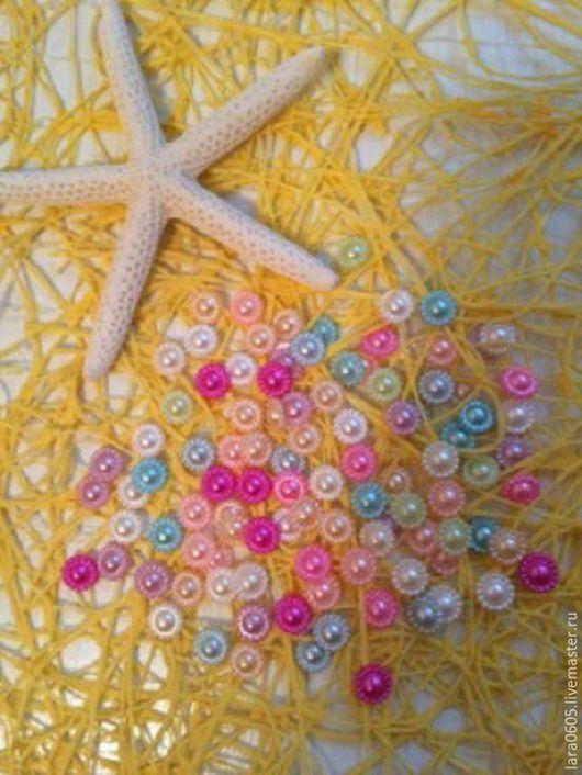 Открытки и скрапбукинг ручной работы. Ярмарка Мастеров - ручная работа. Купить Полубусины в форме цветка, микс, 10 мм. Handmade.