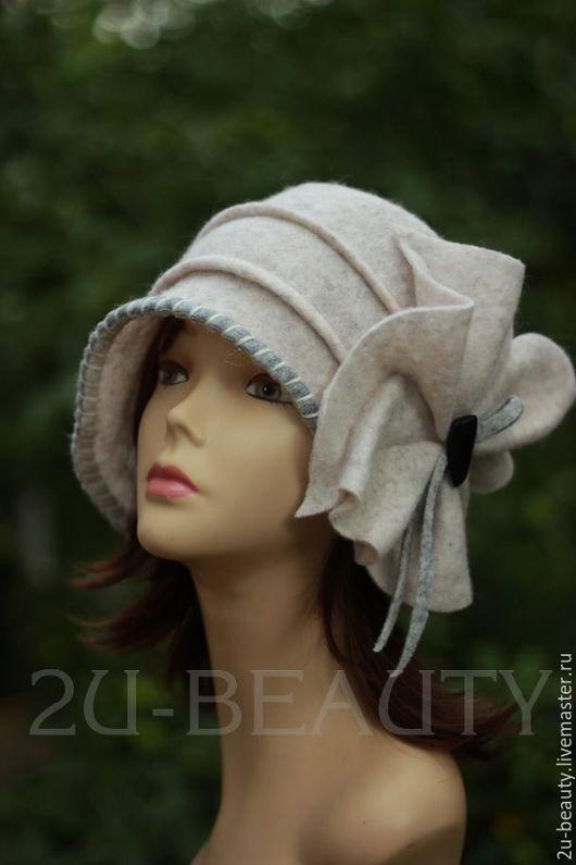 Шляпы ручной работы. Ярмарка Мастеров - ручная работа. Купить Шляпа клош 1920 х из войлока. Handmade. Белый , Шляпа клош.