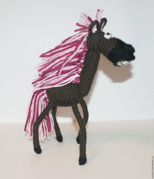 Игрушки животные, ручной работы. Ярмарка Мастеров - ручная работа. Купить Весёлая Лошадь. Handmade. Коричневый, конный спорт