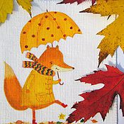 Материалы для творчества handmade. Livemaster - original item Textile coupon for decorating,coupon for needlework,Chanterelles. Handmade.