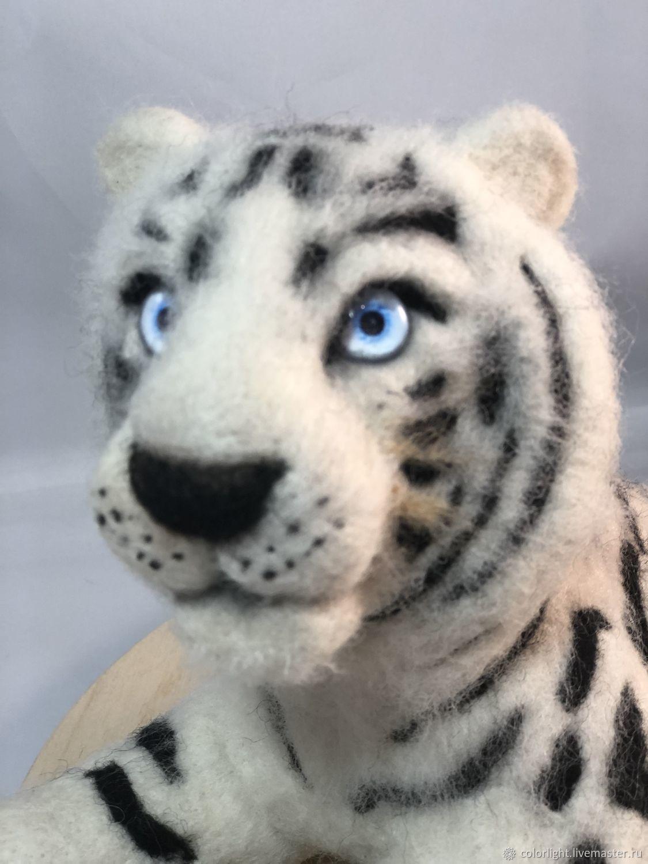 Белый Тигр, Войлочная игрушка, Зеленоград,  Фото №1