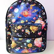 Сумки и аксессуары handmade. Livemaster - original item Large waterproof Space backpack, fabric backpack, city backpack. Handmade.