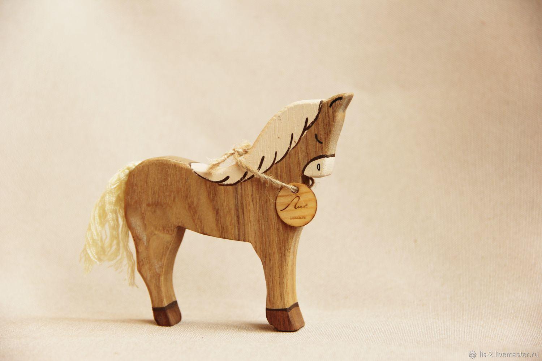 Деревянная игрушка - Лошадь, Миниатюрные игрушки, Красноярск, Фото №1