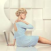 """Одежда ручной работы. Ярмарка Мастеров - ручная работа Нежно-голубое платье с декольте """"капля"""". Handmade."""