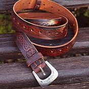 Аксессуары handmade. Livemaster - original item Belt waist leather braiding pattern. Handmade.