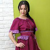 Одежда ручной работы. Ярмарка Мастеров - ручная работа Платье летнее фуксия. Handmade.