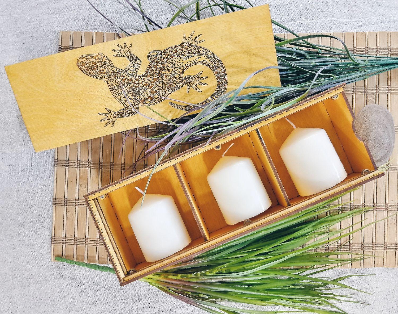 Деревянная коробочка с тремя отделениями и вашим логотипом, Упаковка, Санкт-Петербург,  Фото №1