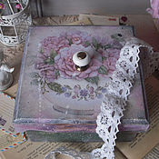 """Для дома и интерьера ручной работы. Ярмарка Мастеров - ручная работа """"Весна душевная""""- короб. Handmade."""