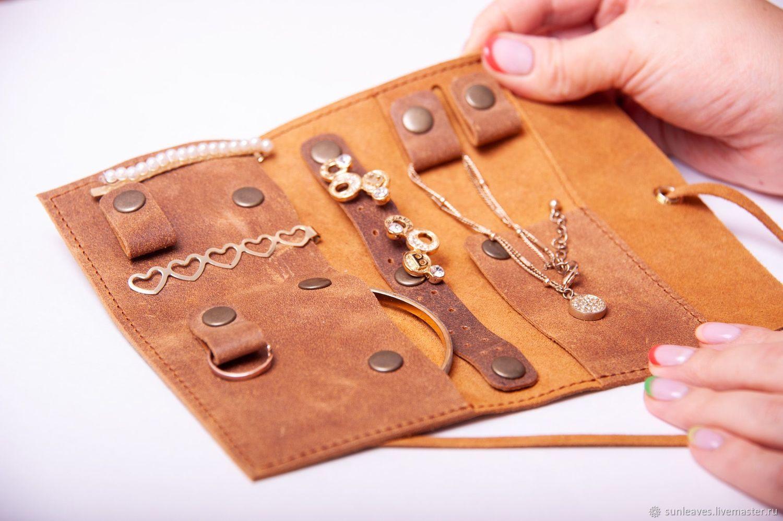 Organizer for jewelry leather 'Party', Jewelry storage, St. Petersburg,  Фото №1