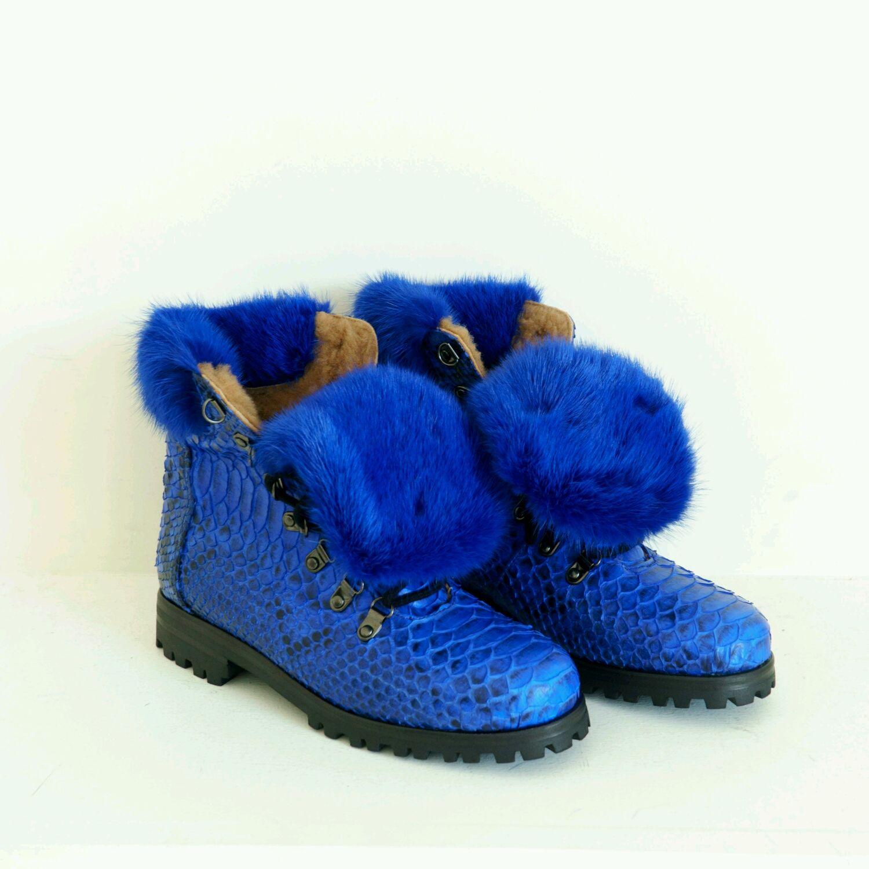 fb487baf05e2 Ботинки из питона – купить в интернет-магазине на Ярмарке Мастеров с  доставкой - ...